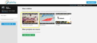 Possibilité d'un écran cliquable à la fin de votre montage vidéo