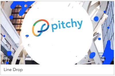 template vidéo noël pitchy