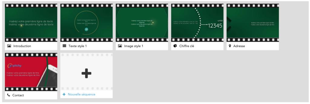 Modèle vidéo Noël